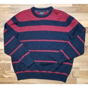 Lands End Striped Knit Sweater. AMAZING! Heavy!